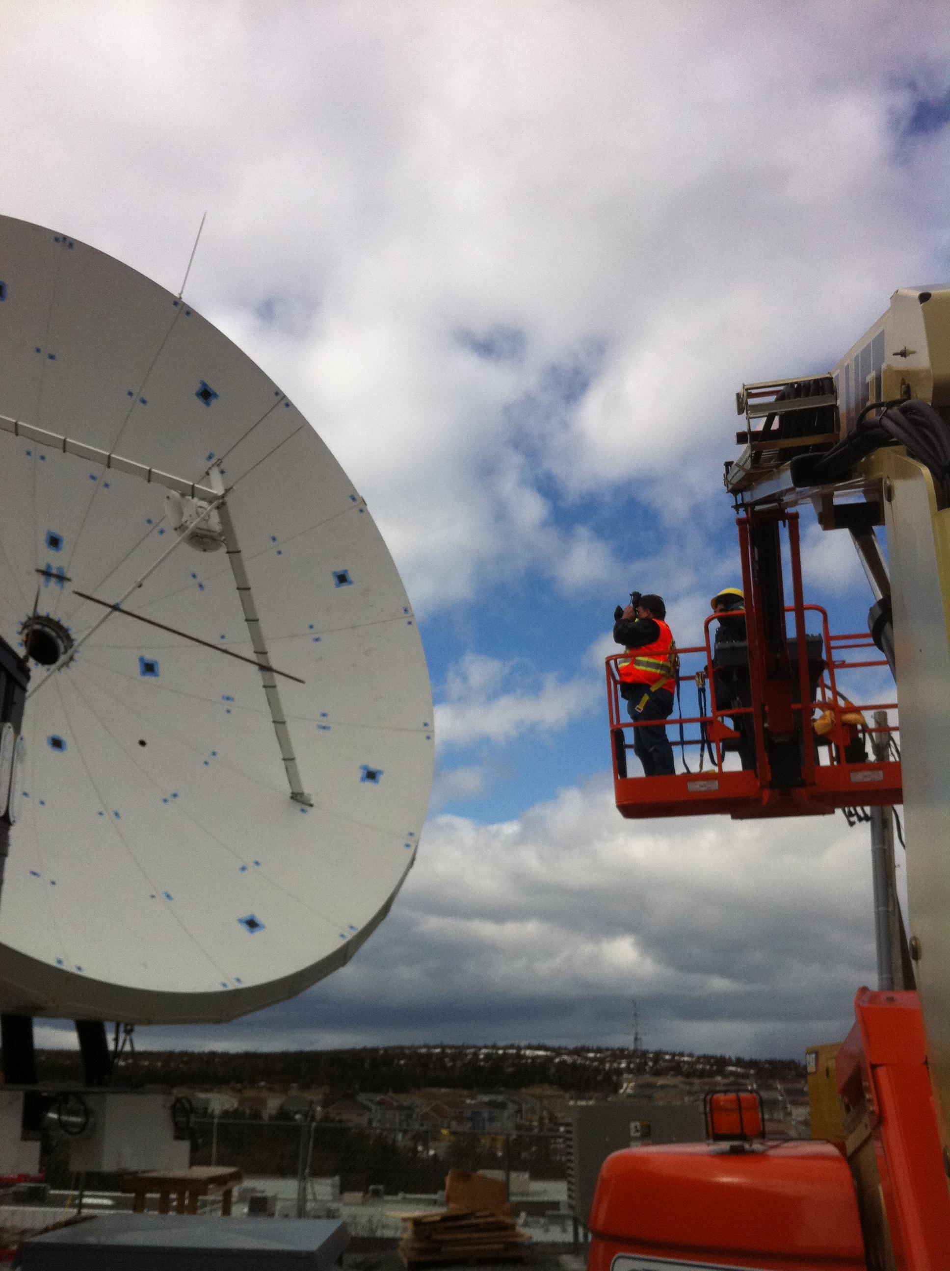 Alignment of a Ka-Band Satellite Antenna