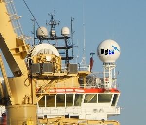 Maritime VSAT Internet Antenna Installation
